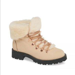 J. Crew Nordic Shearling Cuff Winter Boots Size 8